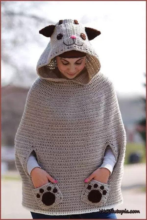 Crochet Tutorial Kitty Cat Poncho Free Crochet Tutorials