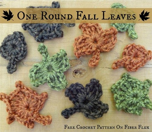 One Round Fall Leaves Free Crochet Tutorials