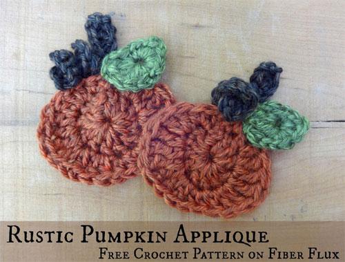 Rustic Pumpkin Applique Free Crochet Tutorials