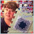 September Sapphire Crochet Square