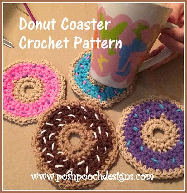 Sprinkle Donut Coasters Crochet Pattern Free Crochet Tutorials