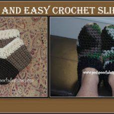 Super Easy and Quick Slipper Crochet Pattern