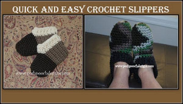 Super Easy And Quick Slipper Crochet Pattern Free Crochet Tutorials
