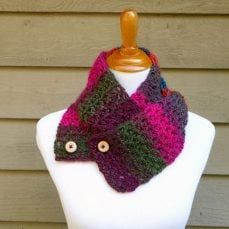 Autumn Gems Button Scarf