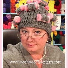 Omas Curlers Hat Crochet Pattern