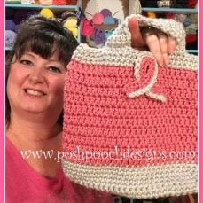 Pink Ribbon Tote Bag Crochet Pattern