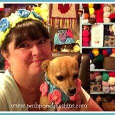 Poppy Dog Collar & Headband Crochet Pattern