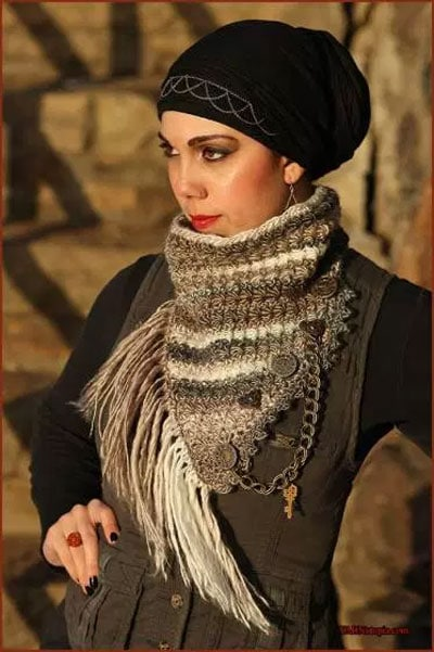Steampunk and Stars Cowl Pattern