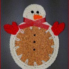 Winter Snowman Coasters Pattern