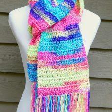 Absolute Beginner Crochet Scarf Pattern