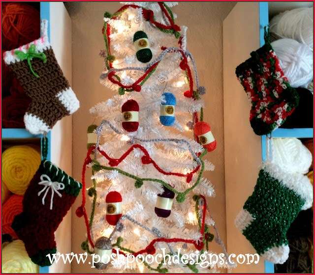 Bobble Christmas Tree Garland Pattern Free Crochet Tutorials