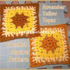 Topaz Crochet Square Pattern