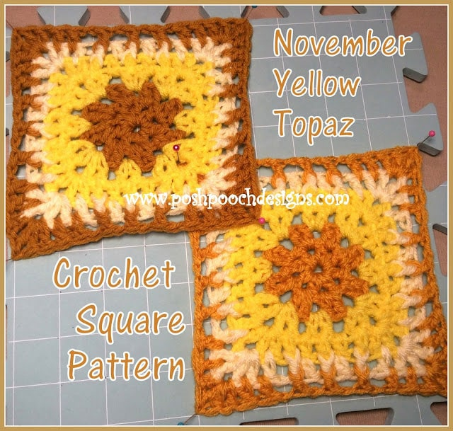 Topaz Crochet Square Pattern Free Crochet Tutorials