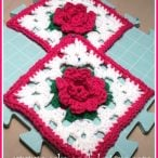 October Rose Square Pattern and Tutorial