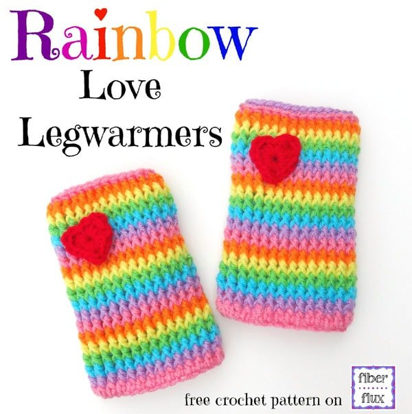 Rainbow Love Legwarmers Pattern and Tutorial