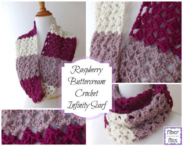 Raspberry Buttercream Infinity Scarf