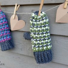 Sleigh Ride Mittens Tutorial
