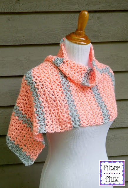 Tangerine Waves Wrap Pattern and Tutorial