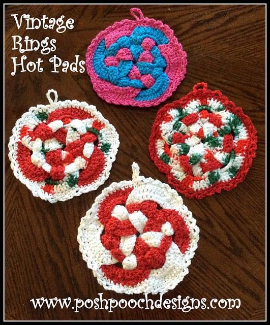 Vintage Rings Hot Pad Crochet Pattern